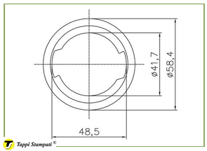 Filler neck for D.76 tank cap with key_drawing