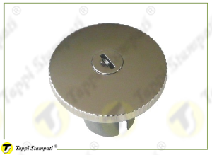 R tank cap with key, bayonet coupling passage diameter 40 mm in steel and stainless steel