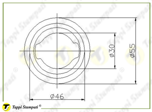 Filler neck for TED tank cap with key_drawing