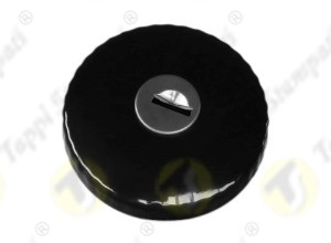 TED black painted tank cap with key internal bayonet coupling passage diameter 30 mm in steel and stainless steel