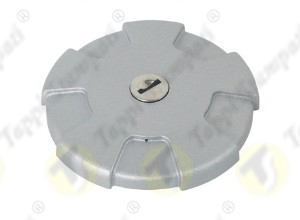 D.96 grey tank cap with key bayonet coupling passage diameter 40 mm in plastic and steel