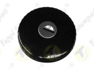 Tappo serbatoio TED con chiave a baionetta interna passaggio 30 mm in acciaio e acciaio inox verniciato nero