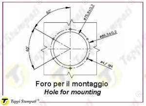 Foro per montaggio indicatore meccanico fisso FIX.PGA_disegno