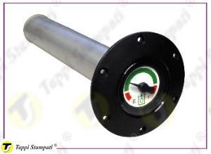 Indicatore di livello meccanico fisso FIX.PGA per circuiti oleodinamici da avvitare con quadrante a tre colori per indicazione livello ottimale olio idraulico